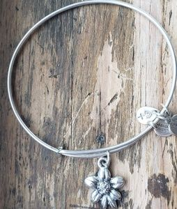 Alex and Ani Silver Flower Bracelet